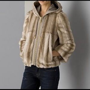Juicy Couture faux fur hooded jacket size s